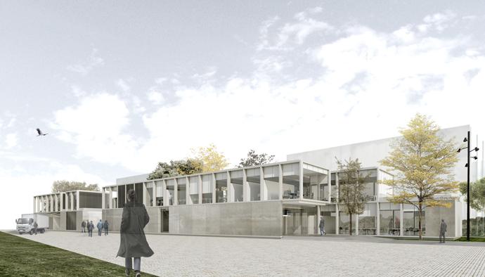 Diego Daza Arquitectos Vivero de Empresas Pontevedra Vista General
