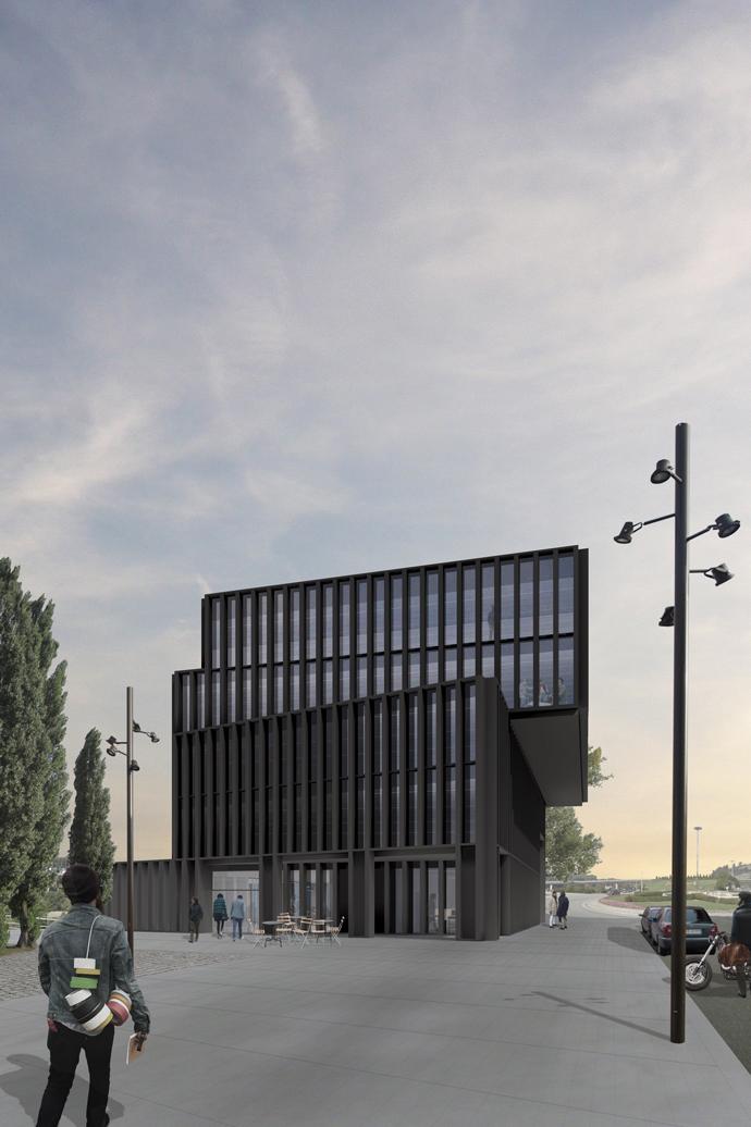 Diego Daza Arquitectos Centro Emprendedores Torrelavega Vista Principal